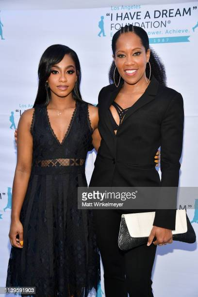 Tetona Jackson and Regina King attend the I Have A Dream Foundation Los Angeles hosts 6th annual Dreamer Dinner Benefit at Skirball Cultural Center...