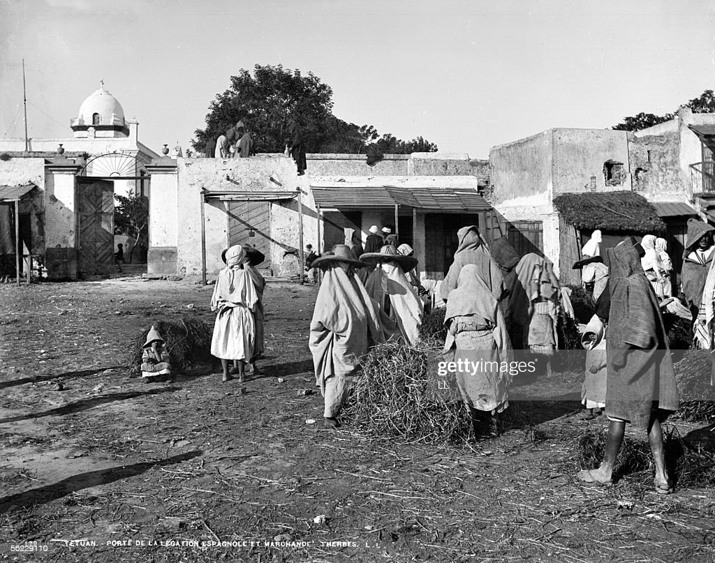 Merchants of herbs to the door of the Spanish Legation. & Tetouan (Morocco). Merchants of herbs to the door Pictures | Getty ...