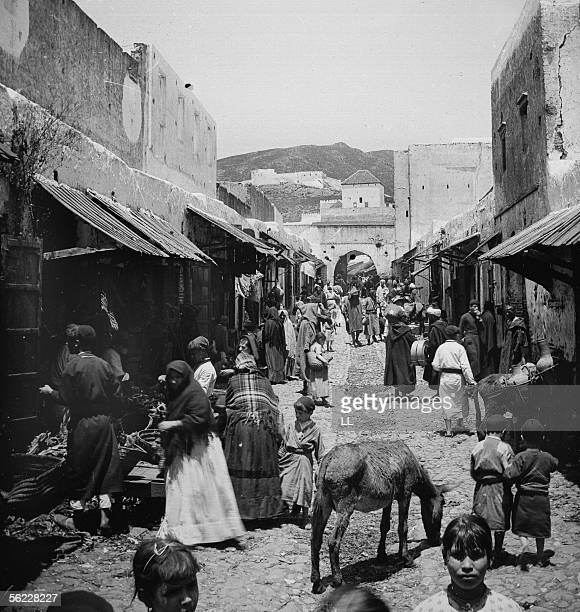 Tetouan Street of the Jews by 1885