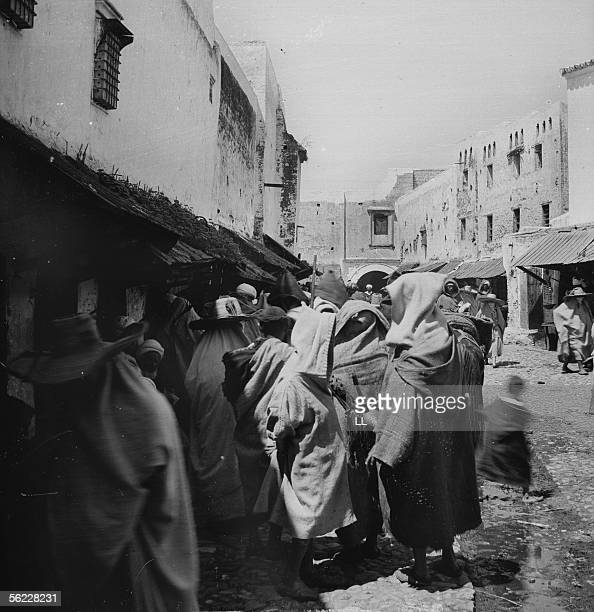 Tetouan Street of the Moorish district by 1885