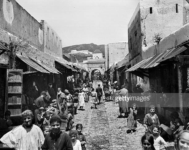 Tetouan The street of the Jewish About 1885 LL196A
