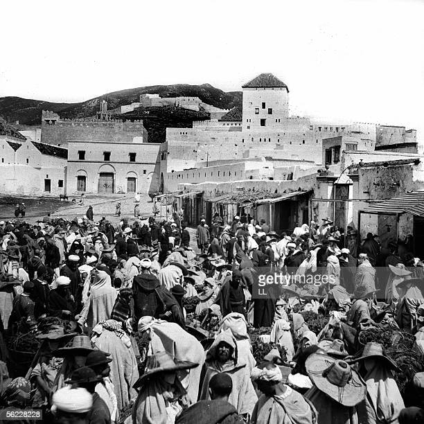 Tetouan The Sultan's palace and the Soko around 1885
