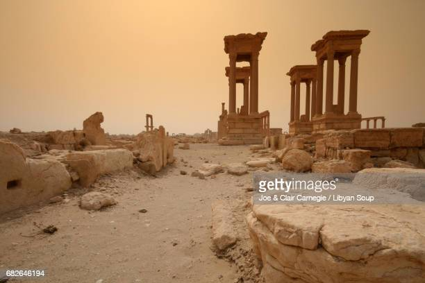 Tetrapylon in Palmyra, Syria