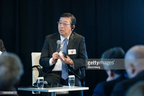 Tetsuji Ohashi president and chief executive officer of Komatsu Ltd speaks during the GermanJapanese Dialogue Forum in Tokyo Japan on Tuesday Feb 5...