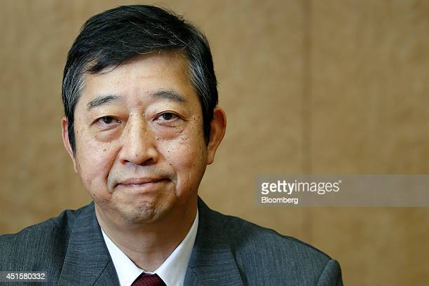 Tetsuji Ohashi president and chief executive officer of Komatsu Ltd poses for a photograph at the company's head office in Tokyo Japan on Friday June...