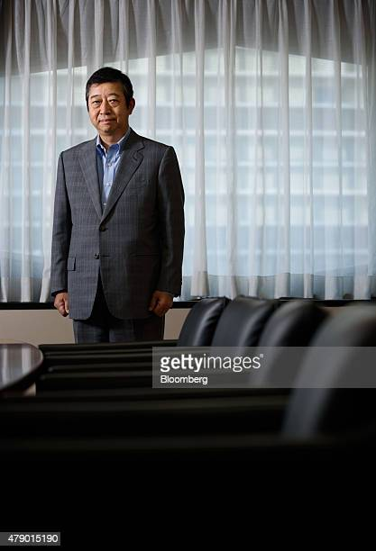 Tetsuji Ohashi president and chief executive officer of Komatsu Ltd poses for a photograph after an interview in Tokyo Japan on Thursday June 25 2015...