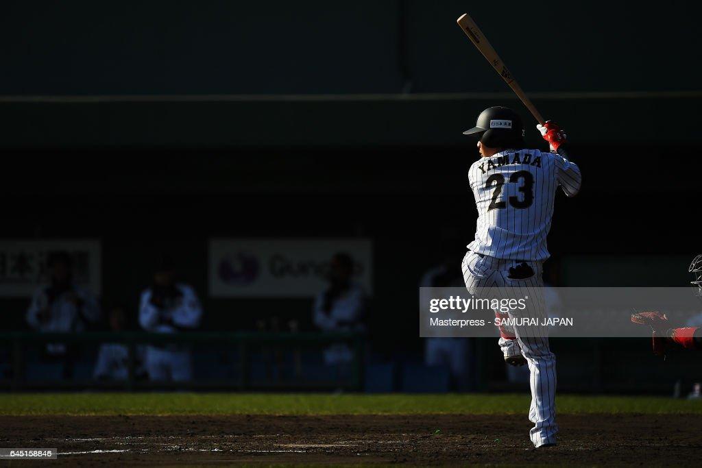 SAMURAI JAPAN v Fukuoka SoftBank HAWKS - SAMURAI JAPAN Friendly Opening Match : Fotografía de noticias
