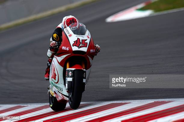 Tetsuta Nagashima of Japan and Idemitsu Honda Team Asia Kalex during the free practice of the Gran Premi Monster Energy de Catalunya Circuit of...
