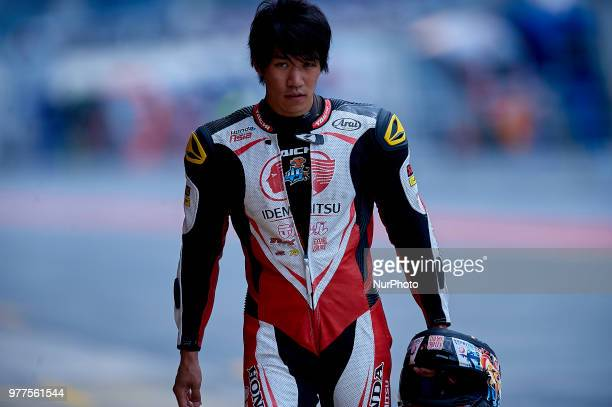 Tetsuta Nagashima of Japan and Idemitsu Honda Team Asia Kalex during the free practice of the Gran Premi Monster Energy de Catalunya, Circuit of...