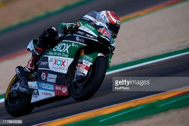 Tetsuta Nagashima of Japan and ONEXOX TKKR SAG Team during of the Gran Premio Michellin de Aragon of world championship of MotoGP at Motorland Aragon...
