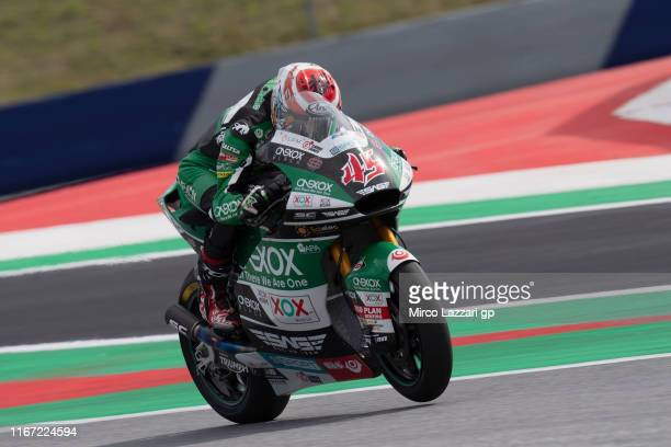 Tetsuta Nagashima of Japan and Onexox TKKR Sag Team heads down a straight during the MotoGp of Austria - Qualifying at Red Bull Ring on August 10,...