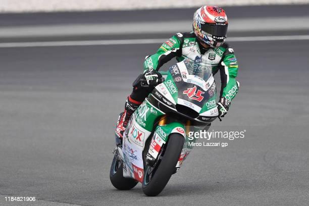 Tetsuta Nagashima of Japan and Onexox TKKR Sag Team heads dwon a straight during the MotoGP of Malaysia - Free Practice at Sepang Circuit on November...