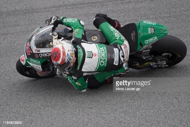 Tetsuta Nagashima of Japan and Onexox TKKR Sag Team rounds the bend during the MotoGP of Malaysia - Free Practice at Sepang Circuit on November 01,...