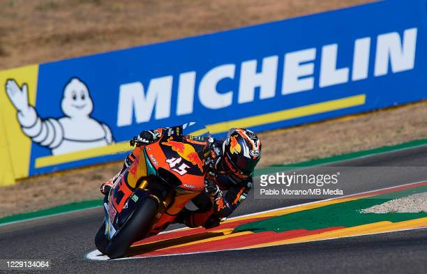 Tetsuta Nagashima of Japan and Red Bull KTM Ajo rides during the qualifying for the MotoGP of Aragon at Motorland Aragon Circuit on October 17, 2020...