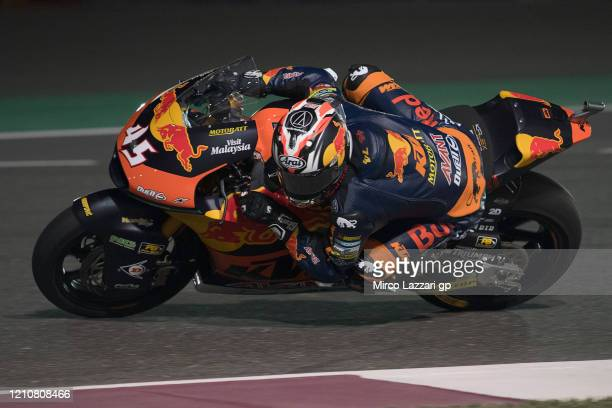 Tetsuta Nagashima of Japan and Red Bull KTM Ajo rounds the bend during the Moto2 & Moto3 GP Of Qatar - Free Practice at Losail Circuit on March 06,...