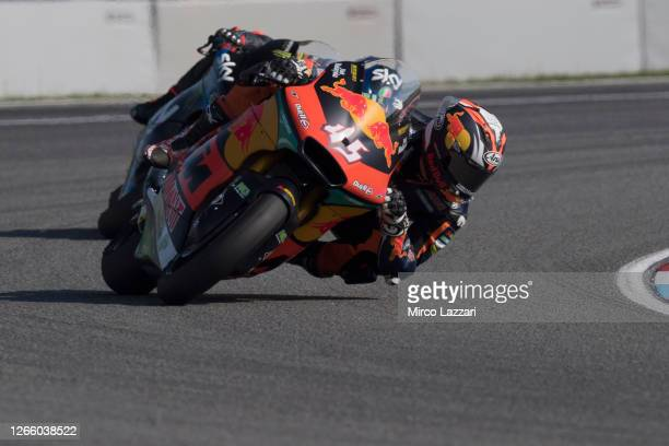Tetsuta Nagashima of Japan and Red Bull KTM Ajo rounds the bend during the MotoGP Of Czech Republic race at Brno Circuit on August 09, 2020 in Brno,...