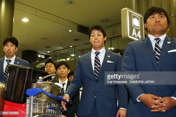 Tetsuto Yamada of Japan is seen on arrival at Narita International Airport on March 23 2017 in Narita Chiba Japan