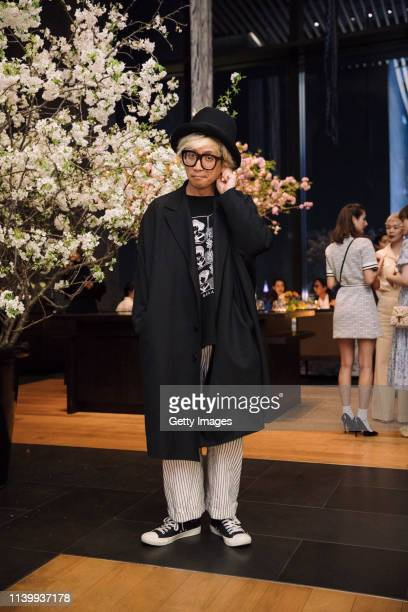 Tetsuya Chihara attends the Tory Burch Ginza Boutique Opening After Party on April 02 2019 in Tokyo Japan