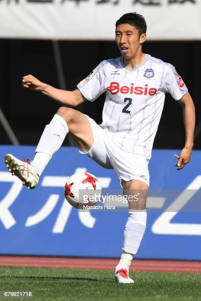 Tetsuya Funatsu of Thespa Kusatsu Gunma in action during the J.League J2 match between Roasso Kumamoto and Thespa Kusatsu Gunma at Egao Kenko Stadium...