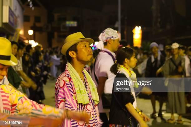 tetsuya odori (gujo odori festival) - kyonntra stock pictures, royalty-free photos & images