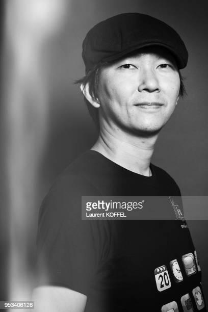 Tetsuya Tsutsui session portrait on july 6, 2012 at 'Japan Expo' Paris in France. Tetsuya Tsutsui is a Mangaka .