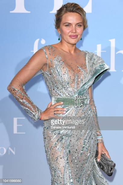 Tetyana Veryovkina attends the Gala for the Global Ocean hosted by HSH Prince Albert II of Monaco at Opera of MonteCarlo on September 26 2018 in...