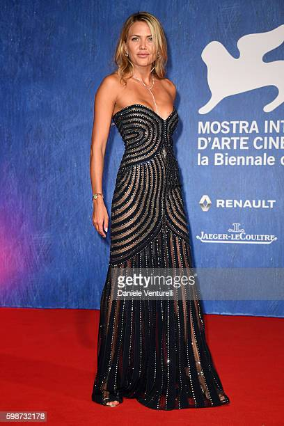 Tetyana Veryovkina attends the premiere of 'Franca: Chaos And Creation' during the 73rd Venice Film Festival at Sala Giardino on September 2, 2016 in...