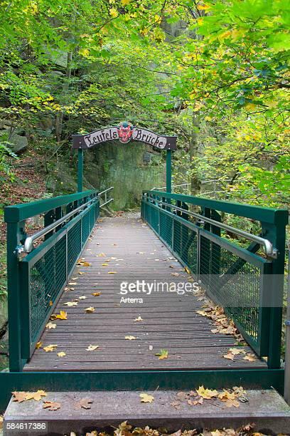 Teufelsbruecke / Devil's bridge at the Hexentanzplatz / Witches' Dance Floor Thale SaxonyAnhalt Germany