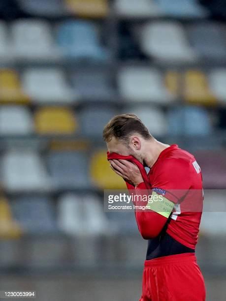 Teun Koopmeiners of AZ Alkmaar during the UEFA Europa League match between Rijeka v AZ Alkmaar at the HNK Rijeka Stadium on December 10, 2020 in...