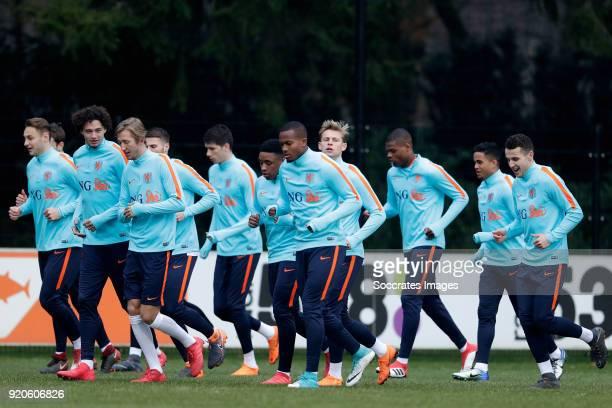 Teun Koopmeiners of Holland U21 Thomas Ouwejan of Holland U21 Philippe Sandler of Holland U21 Michel Vlap of Holland U21 Bart Nieuwkoop of Holland...