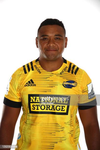 Tevita Mafileo of the Hurricanes poses during the Hurricanes 2020 Super Rugby headshots session on January 24, 2020 in Auckland, New Zealand.
