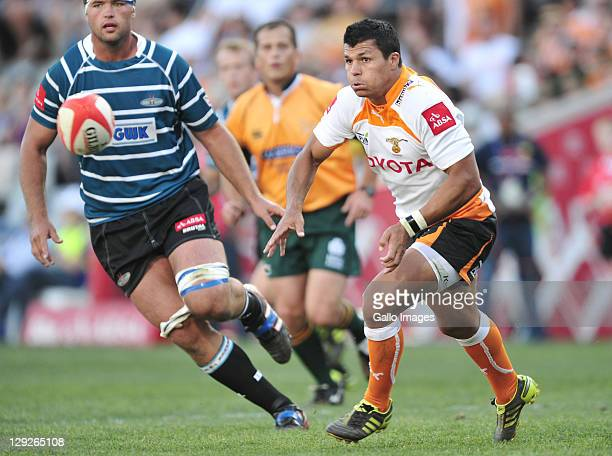 Tewis de Bruyn of the Toyota Free State Cheetahs during the Absa Currie Cup match between Toyota Free State Cheetahs and GWK Griquas at Free State...