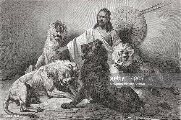 Tewodros Holding Audience Surrounded By Lions Tewodros Ii Baptized Theodore Ii C 1818 To 1868 Emperor Of Ethiopia From El Mundo En La Mano Published...