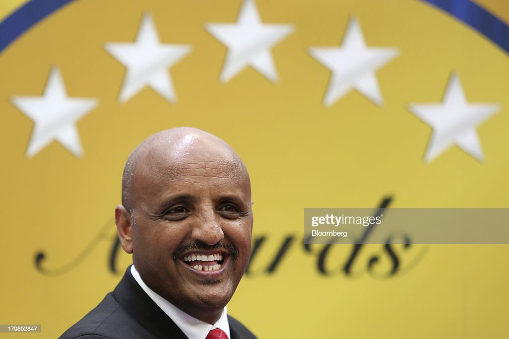 Tewolde GebreMariam, chief executive officer of Ethiopian Airlines Enterprise, attends an awards ceremony on the second day of the Paris Air Show in Paris, France, on Tuesday, June 18, 2013. The 50th International Paris Air Show is the world's largest aviation and space industry show, and takes place at Le Bourget airport June 17-23. Photographer: Chris Ratcliffe/Bloomberg via Getty Images