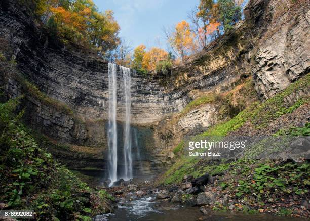 tews waterfall in hamilton ontario - ontario canada stock pictures, royalty-free photos & images
