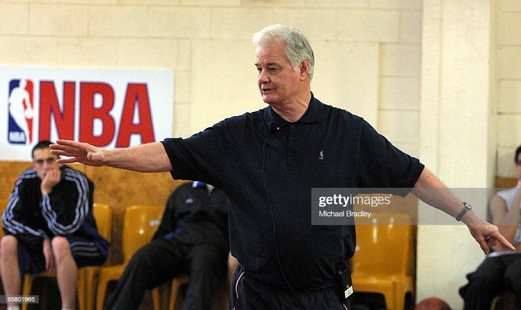 Tex Winter ex NBA coach at a basketball training c : News Photo