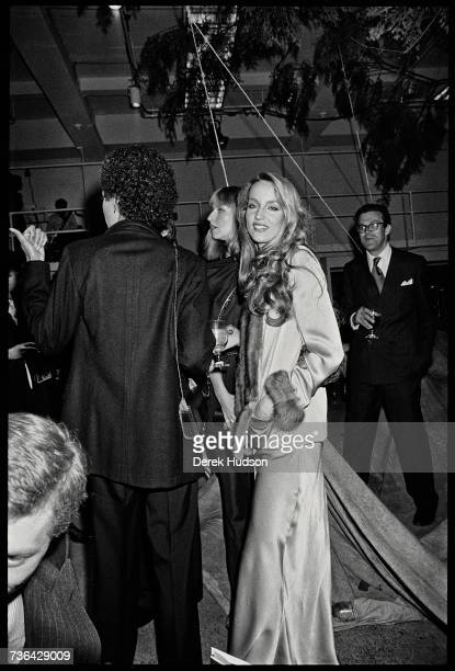 Texan born fashion model Jerry Hall at a fashion show party in New York City