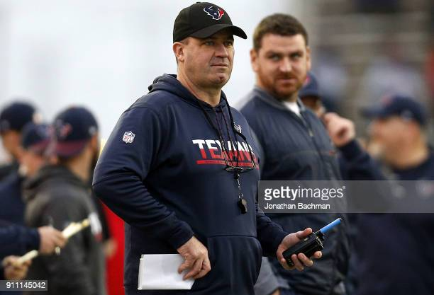 Texans head coach Bill O'Brien of the South team reacts during the second half of the Reese's Senior Bowl at LaddPeebles Stadium on January 27 2018...