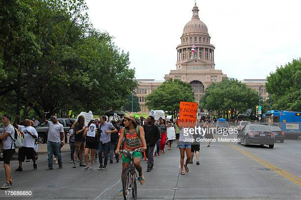 Texans protest in response to the acquittal of George Zimmerman in the Trayvon Martin murder trial