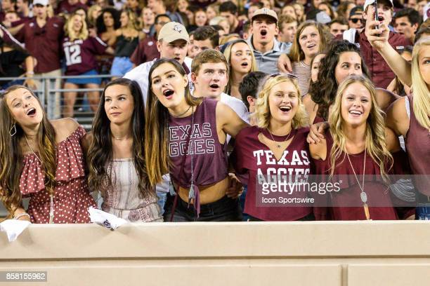 Texas AM Aggies fans celebrate during the college football game between the South Carolina Gamecocks and the Texas AM Aggies on September 30th 2017...