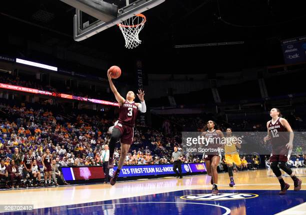 Texas AM Aggies guard Chennedy Carter makes the basket on a fast break during the third period between the LSU Tigers and the Texas AM Aggies in a...