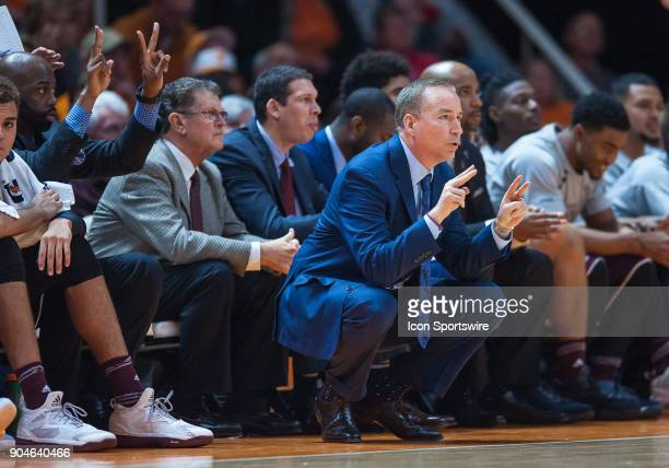 Texas AM Aggies head coach Billy Kennedy coaching during a game between the Texas AM Aggies and Tennessee Volunteers on January 13 at ThompsonBoling...