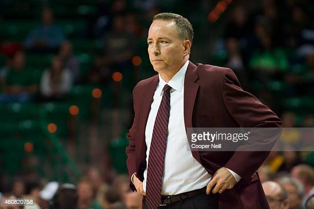 Texas AM Aggies head coach Billy Kennedy looks on against the Baylor Bears on December 9 2014 at the Ferrell Center in Waco Texas