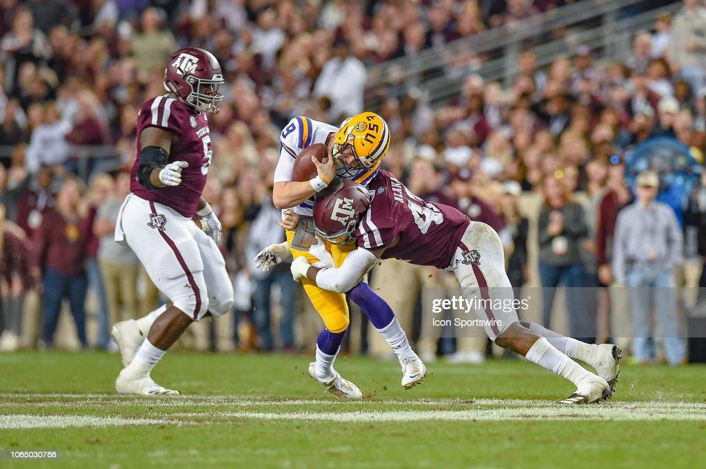 COLLEGE FOOTBALL: NOV 24 LSU at Texas A&M : News Photo