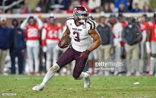 Texas AM Aggies receiver Christian Kirk returns a punt during the third quarter of a NCAA college football game against the Mississippi Rebels on...
