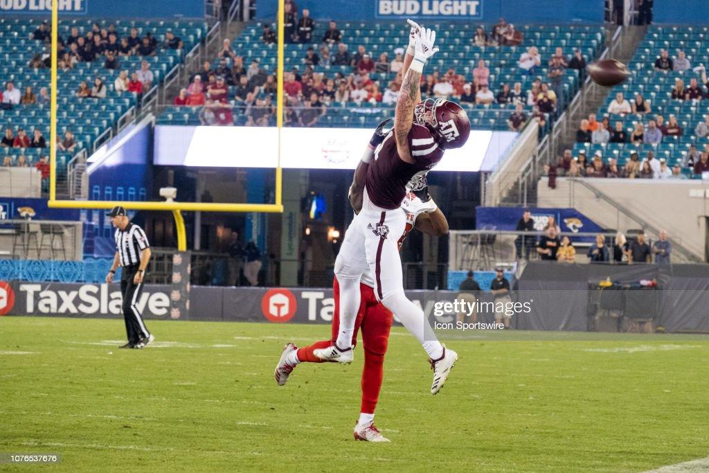 COLLEGE FOOTBALL: DEC 31 Taxslayer Gator Bowl - NC State v Texas A&M : News Photo