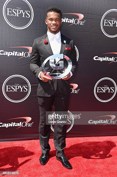 Texas AM football/baseball player Kyler Murray attends The 2015 ESPYS at Microsoft Theater on July 15 2015 in Los Angeles California