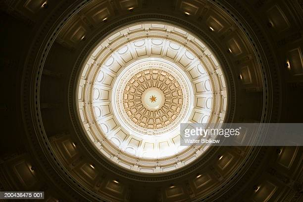 USA, Texas, Austin, State Capitol Dome interior, view from below
