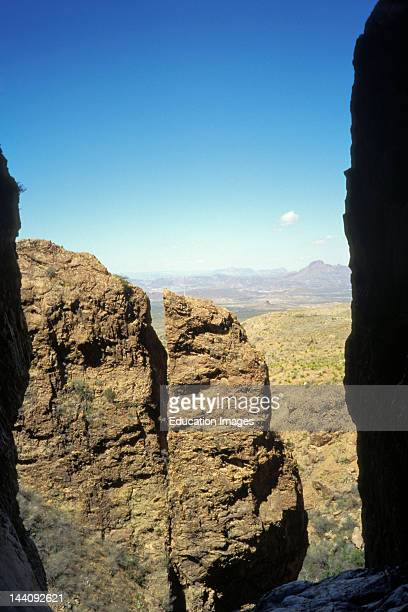 """Texas, Big Bend National Park,""""The Window"""" In The Chisos Mountains ."""