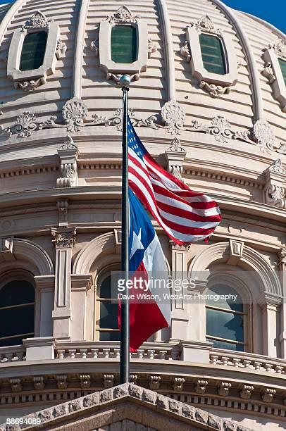 Texas Capitol Flags